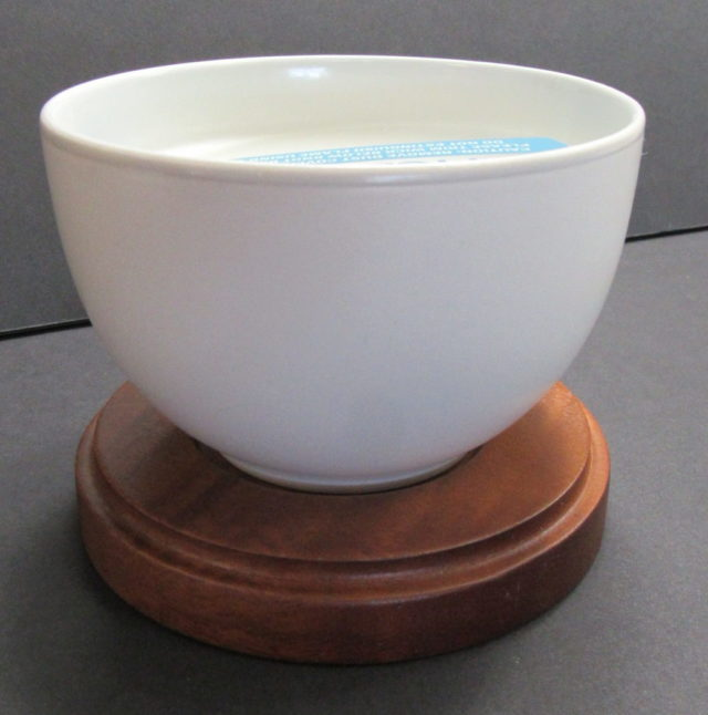 white candle bowl