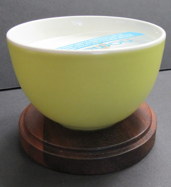 yellow candle bowl